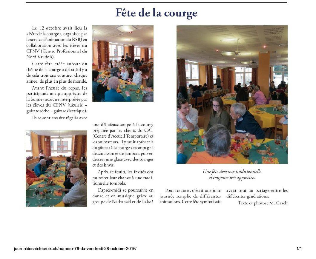 Fête de la courge – Le journal du Balcon du Jura vaudois